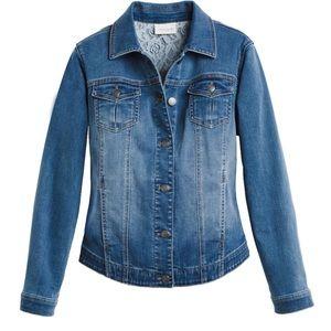 NWT Chicos perfect stretch jean jacket Sz 1